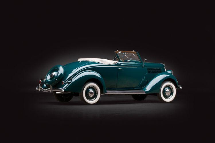 1936 Ford V8 Deluxe Cabriolet 68-760 vintage luxury v-8 wallpaper
