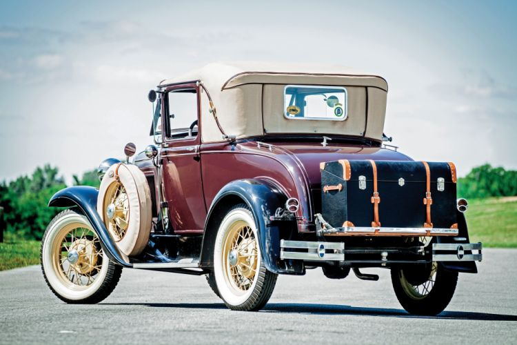 1930 Ford Model-A Sport Coupe 50B vintage retro wallpaper