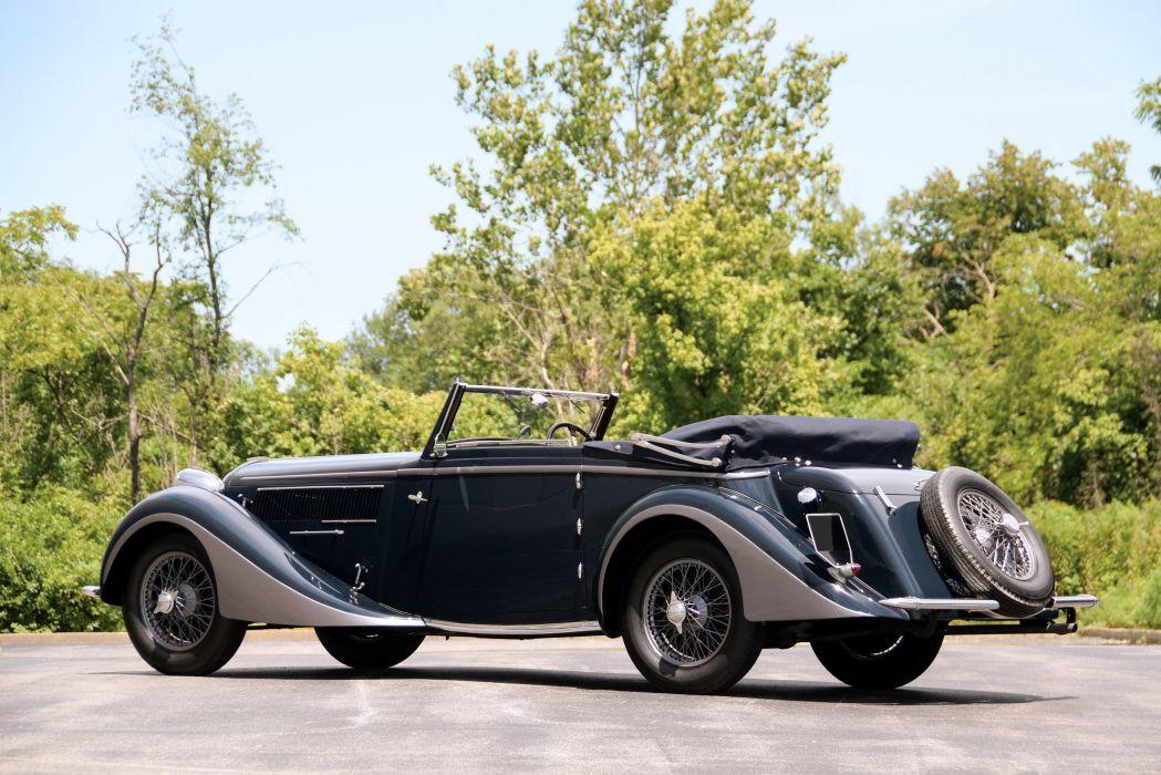 1937 Delahaye 135 Cabriolet par Chapron luxury retro wallpaper