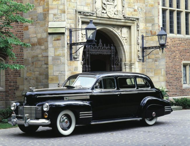 1941 Cadillac Fleetwood Seventy-Five 7-passenger Touring Sedan luxury retro wallpaper