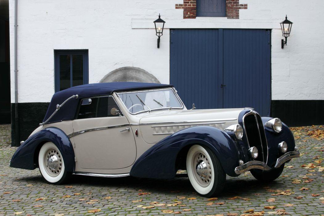 1946 Delahaye 135 M Cabriolet par Pennock luxury retro wallpaper