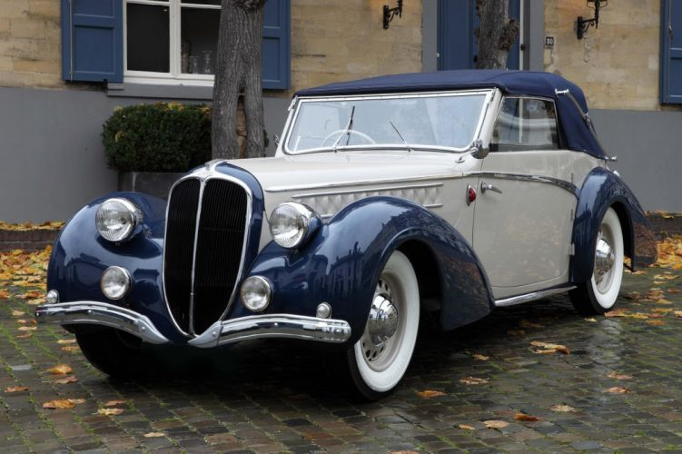 1946 Delahaye 135 M Cabriolet par Pennock luxury retro wallpaper