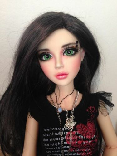 doll toys long hair girl beauty dress green eyes wallpaper