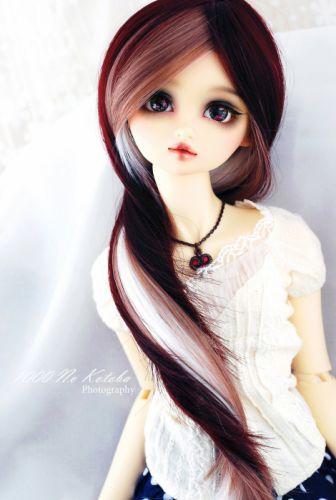 doll toys long hair girl beauty dress brown eyes wallpaper