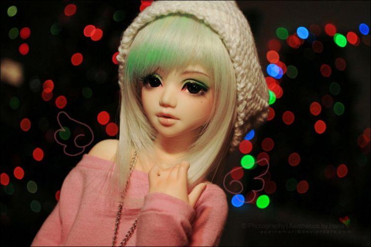 doll toys long hair girl beauty dress cute brown eyes blonde light wallpaper