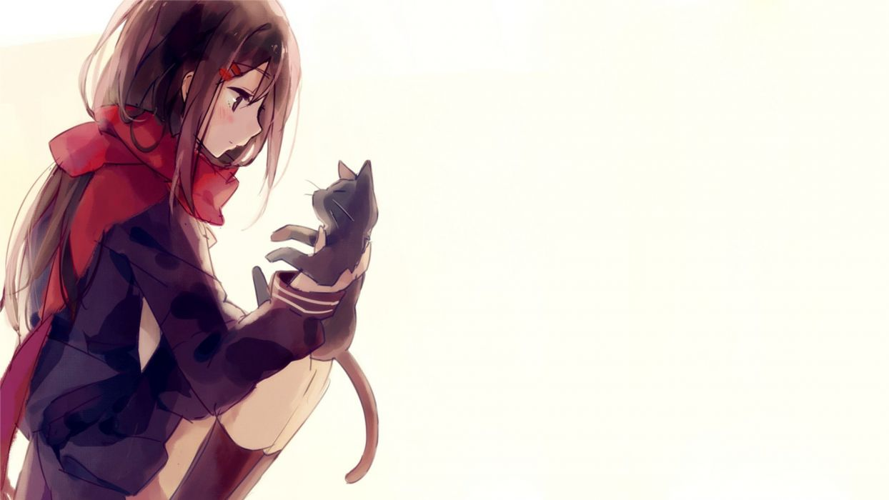Kagerou Project anime series girl cute cat wallpaper