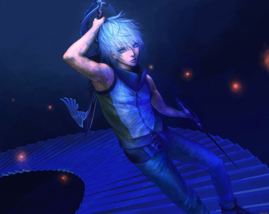 anime male blue character wallpaper