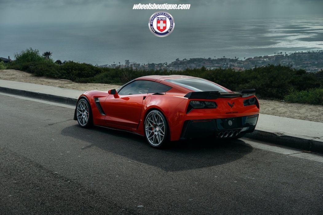 Chevrolet (c7) Corvette Z06 HRE wheels coupe cars usa wallpaper