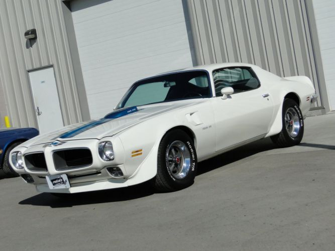 1971 White Pontiac Trans-Am coupe cars wallpaper