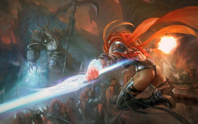 fantasy art artwork woman women female girl girls warrior wallpaper