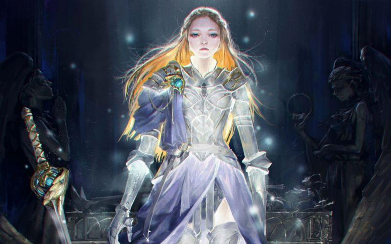 fantasy art artwork woman women female girl girls warrior wallpaper