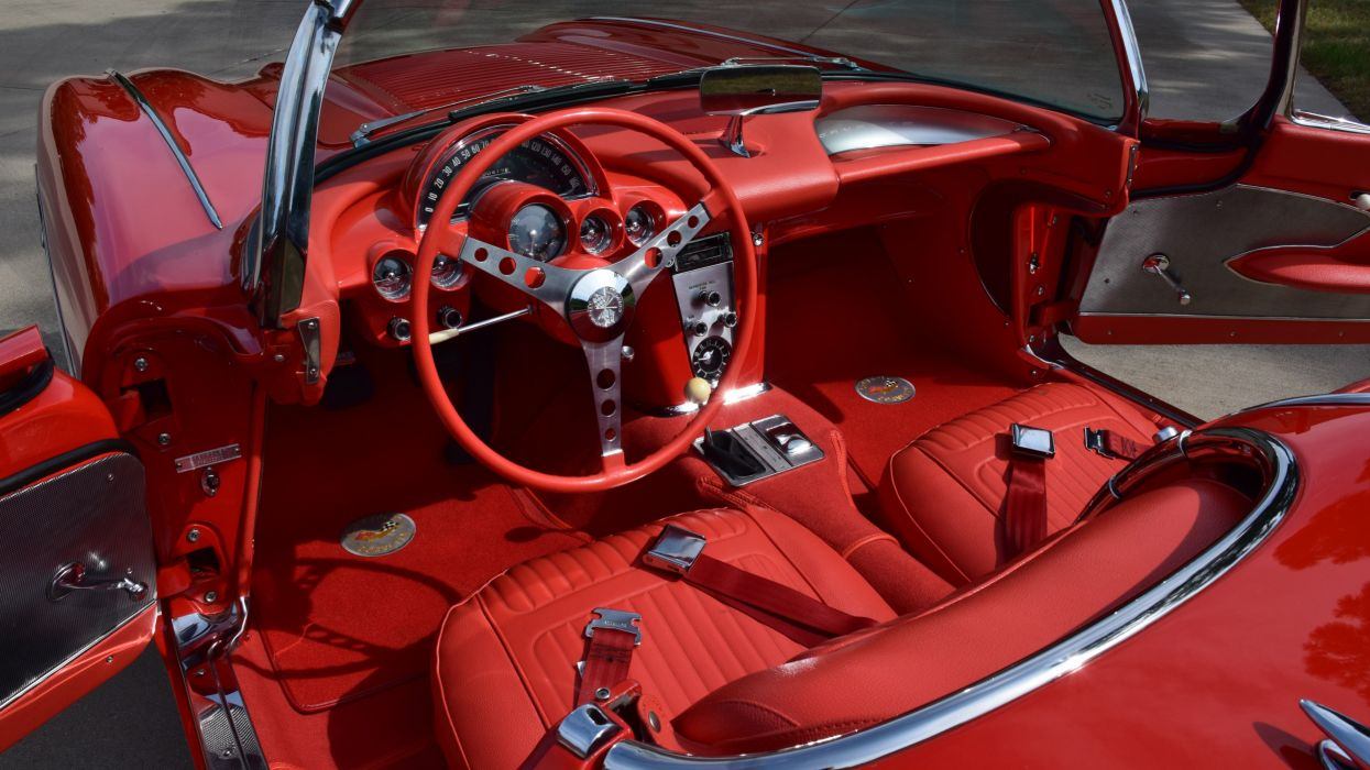 1958 Chevrolet Corvette Convertible Muscle Classic Old Original USA -04 wallpaper