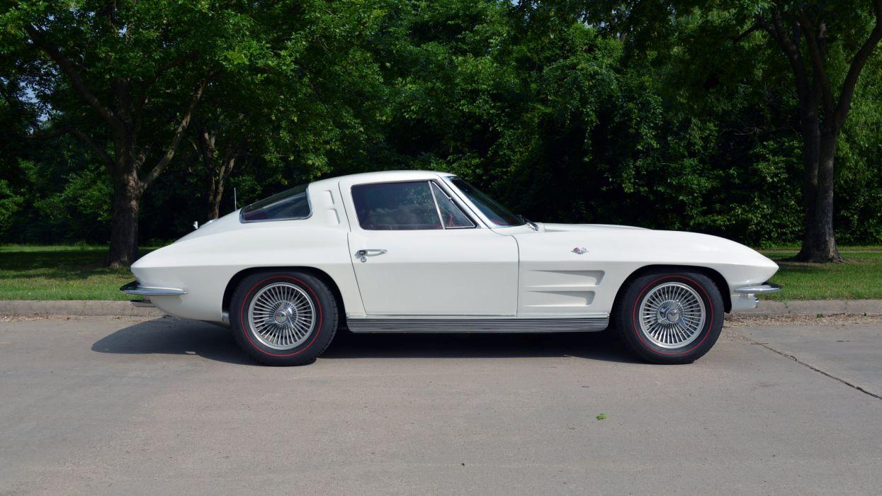 1963 Chevrolet Corvette Stingray Split-Window Coupe Muscle Classic Old Original USA -07 wallpaper
