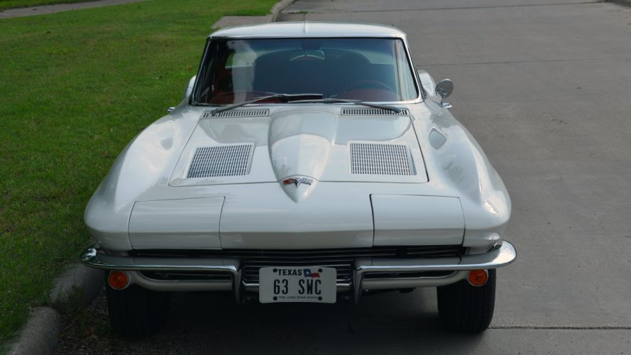 1963 Chevrolet Corvette Stingray Split-Window Coupe Muscle Classic Old Original USA -12 wallpaper