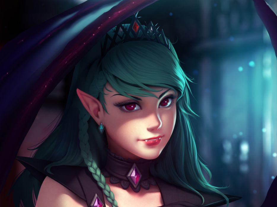 fantasy art artwork vampire evil dark angel succubus girl girls women woman female wallpaper