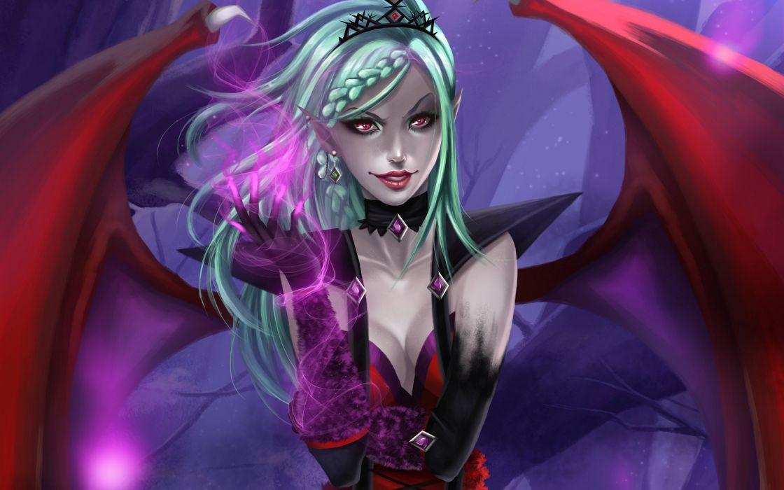 Evil Fantasy Girl Art