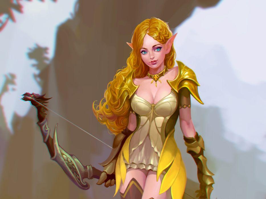 fantasy art artwork girl girls women woman female elf elves wallpaper