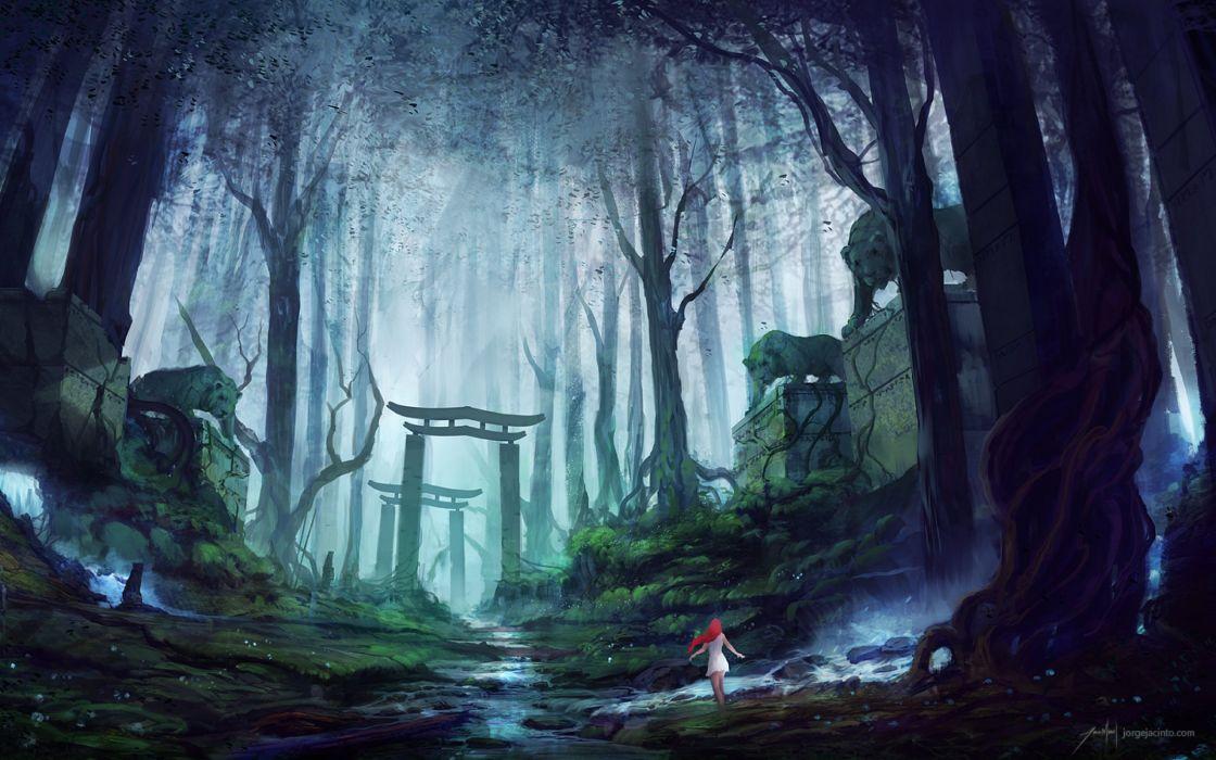 fantasy art artwork landscape nature wallpaper