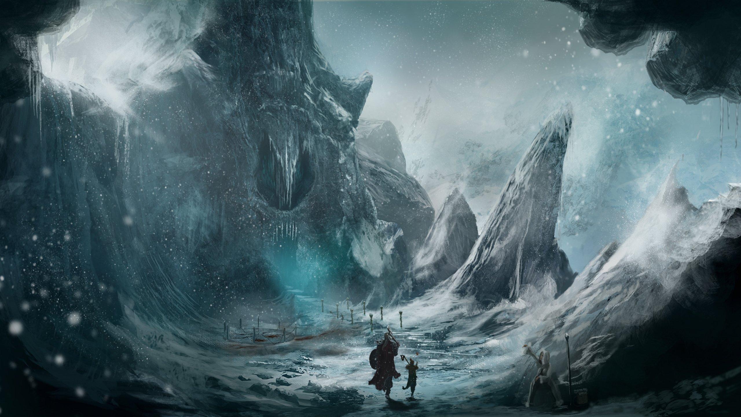 fantasy art artwork landscape nature adventure warrior