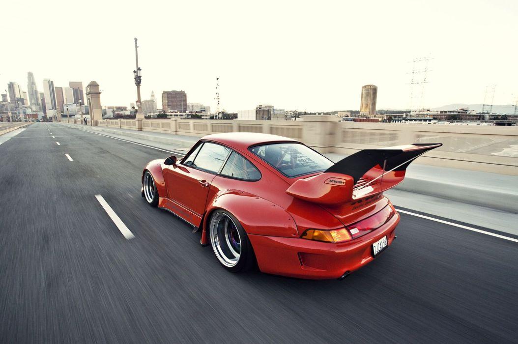 1995 porsche 911 widebody kit rwb coupe cars wallpaper