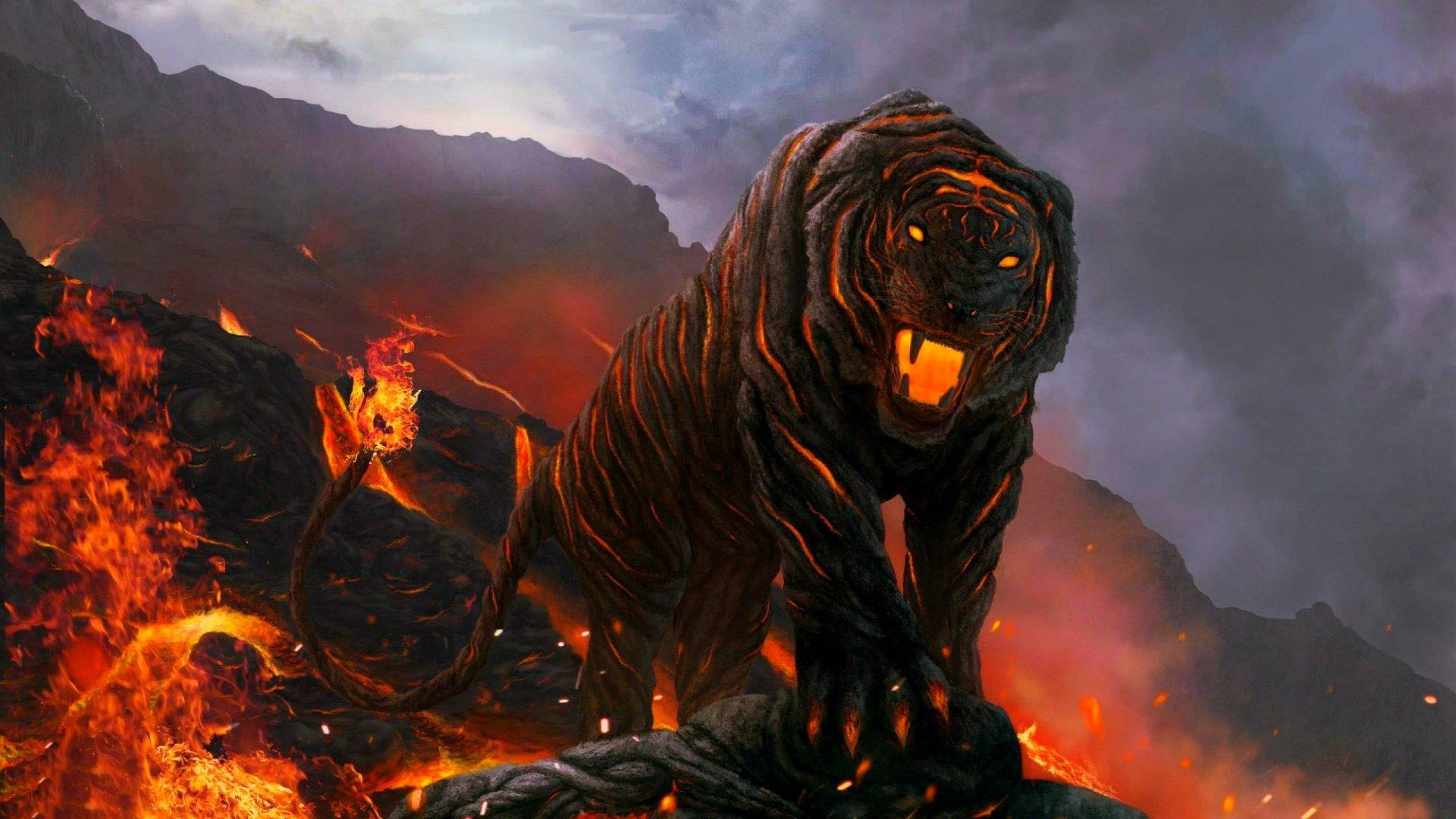 Fantasy art artwork tiger predator carnivore cat wallpaper ...