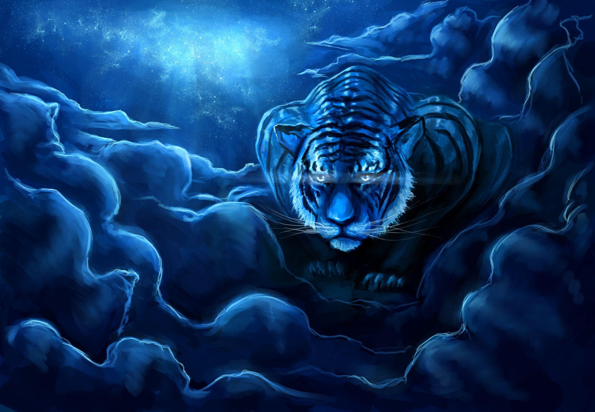 Картинки тигр фэнтези