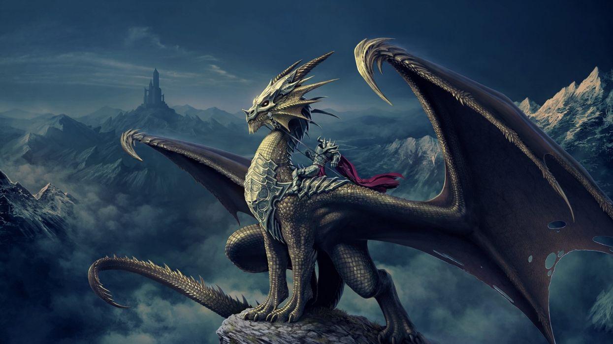 fantasy art artwork monster creature dragon wallpaper