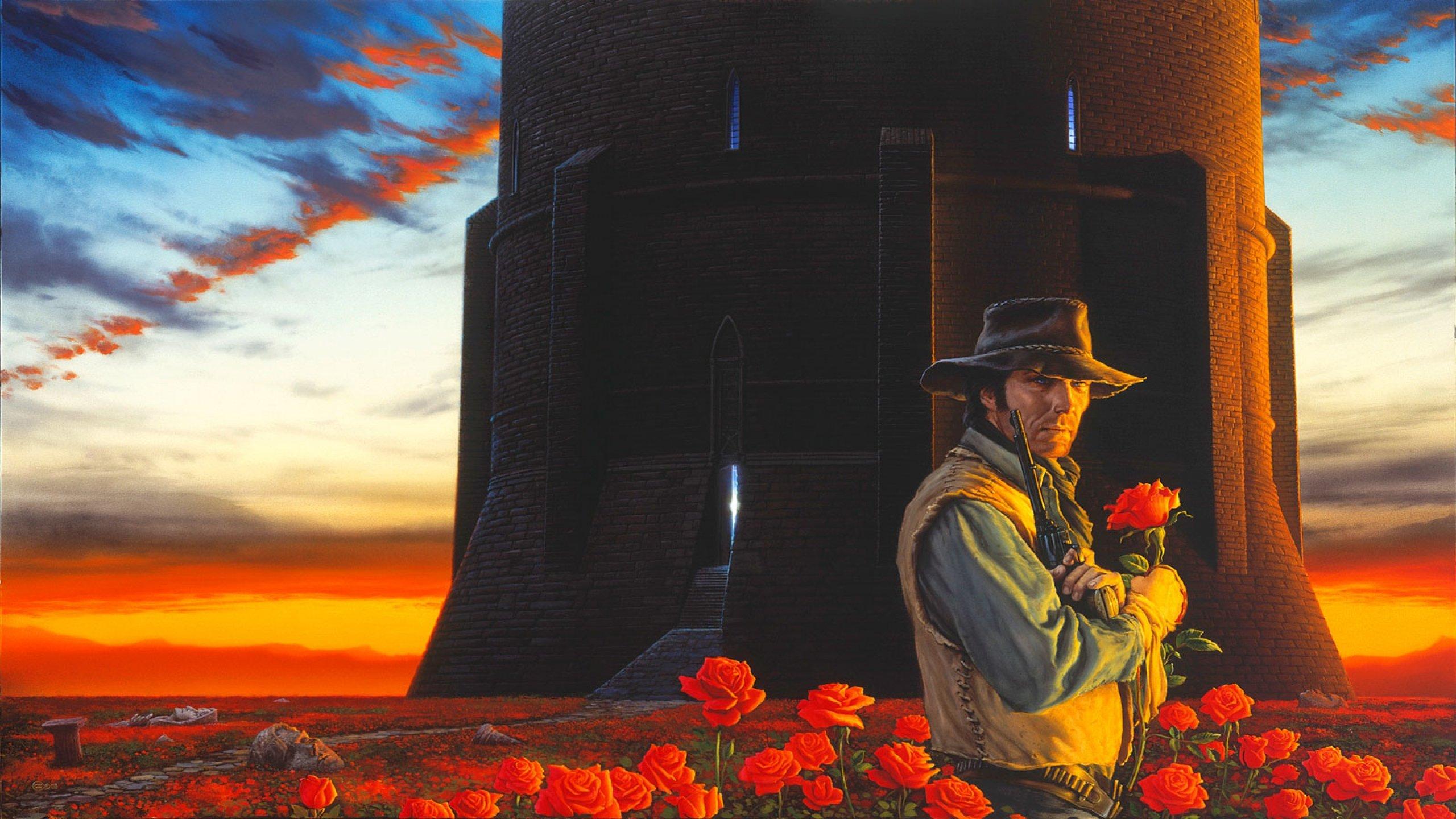 Fantasy Art Artwork Warrior Dark Tower Stephen King Western Wallpaper 2560x1440 799023 Wallpaperup