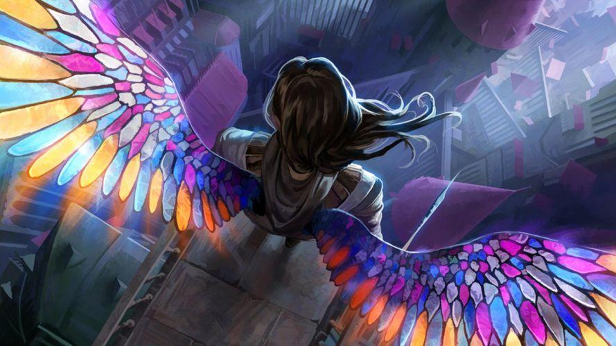 fantasy art artwork angel girl girls wallpaper