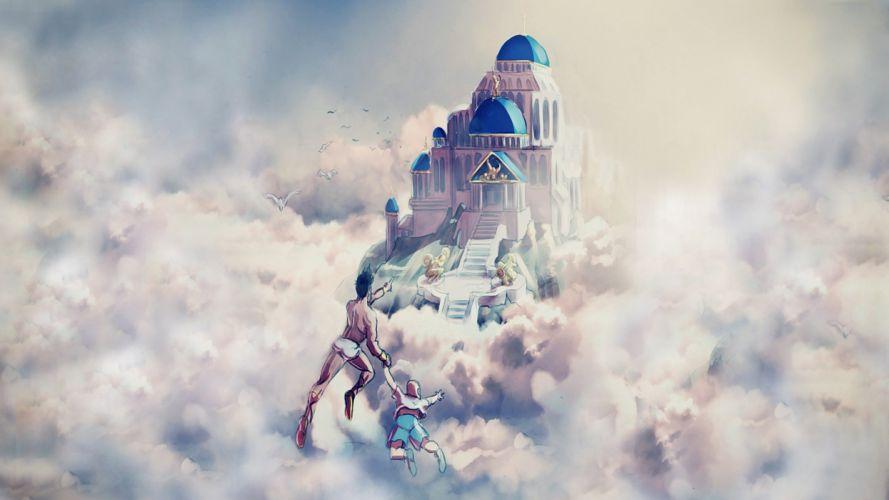 fantasy art artwork castle city cities wallpaper