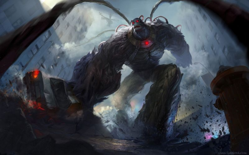 fantasy art artwork monster creature giant warrior wallpaper