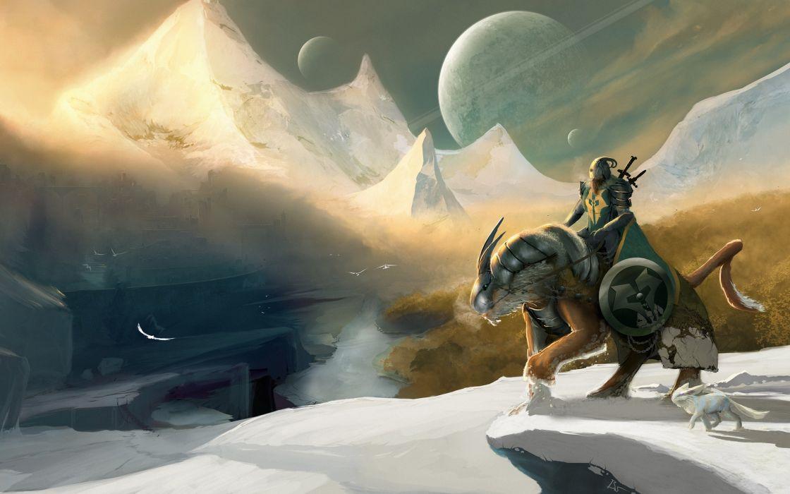 fantasy art artwork knight armor warrior wallpaper