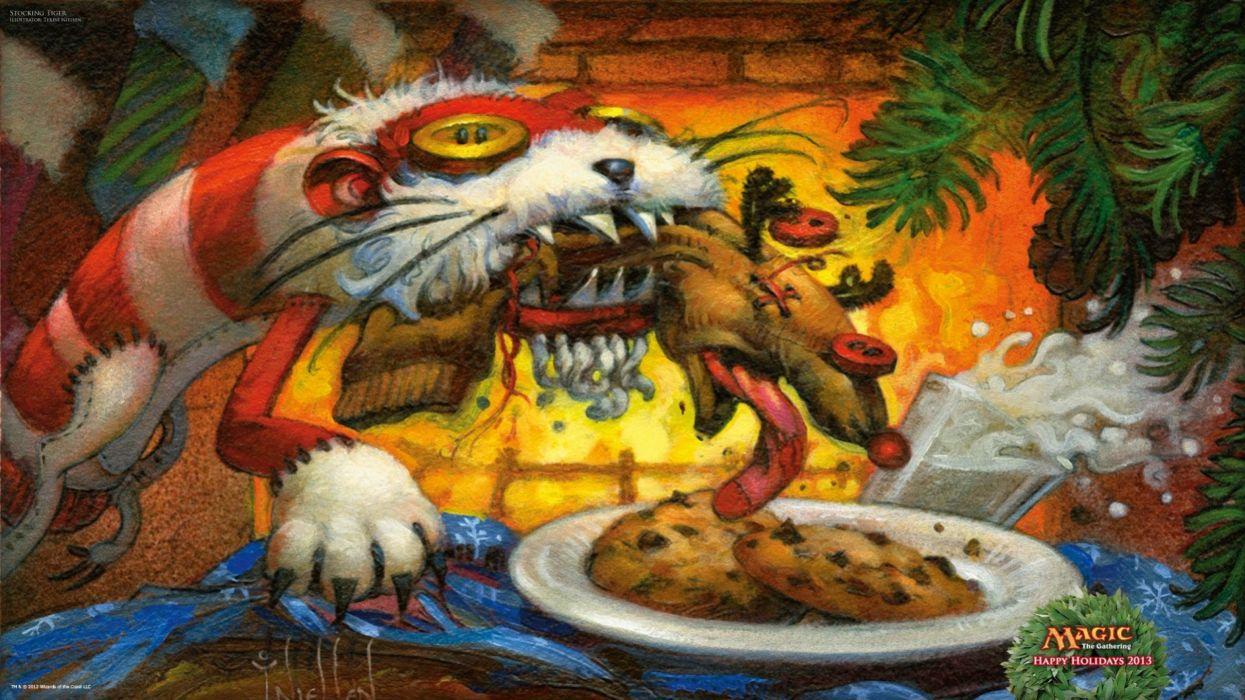 fantasy art artwork magic gathering dark creature wallpaper