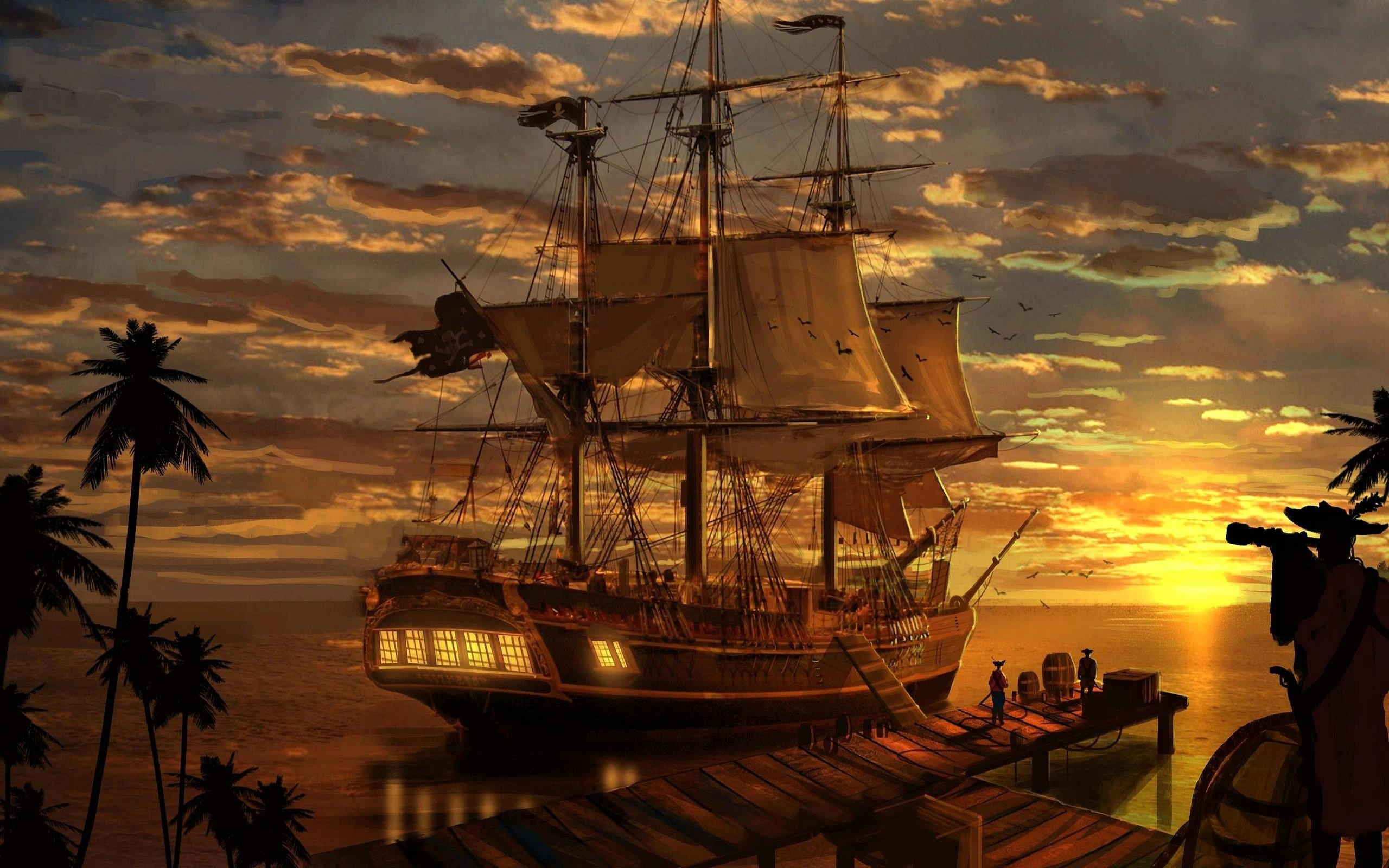 Fantasy ship cliff jolly roger pirate ship rock lightning wallpaper - Pin By Russ On Tattoo Designs Pinterest Pirate Ships Artwork And Tattoo Designs