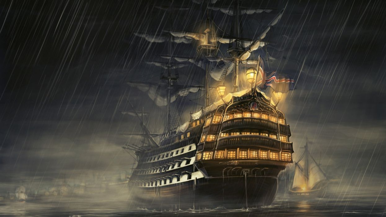 art artwork fantasy ship boat ocean sea pirate pirates wallpaper
