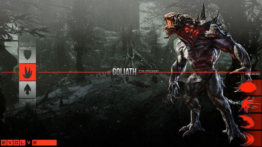 Evolve game Monster creature fantasy wallpaper
