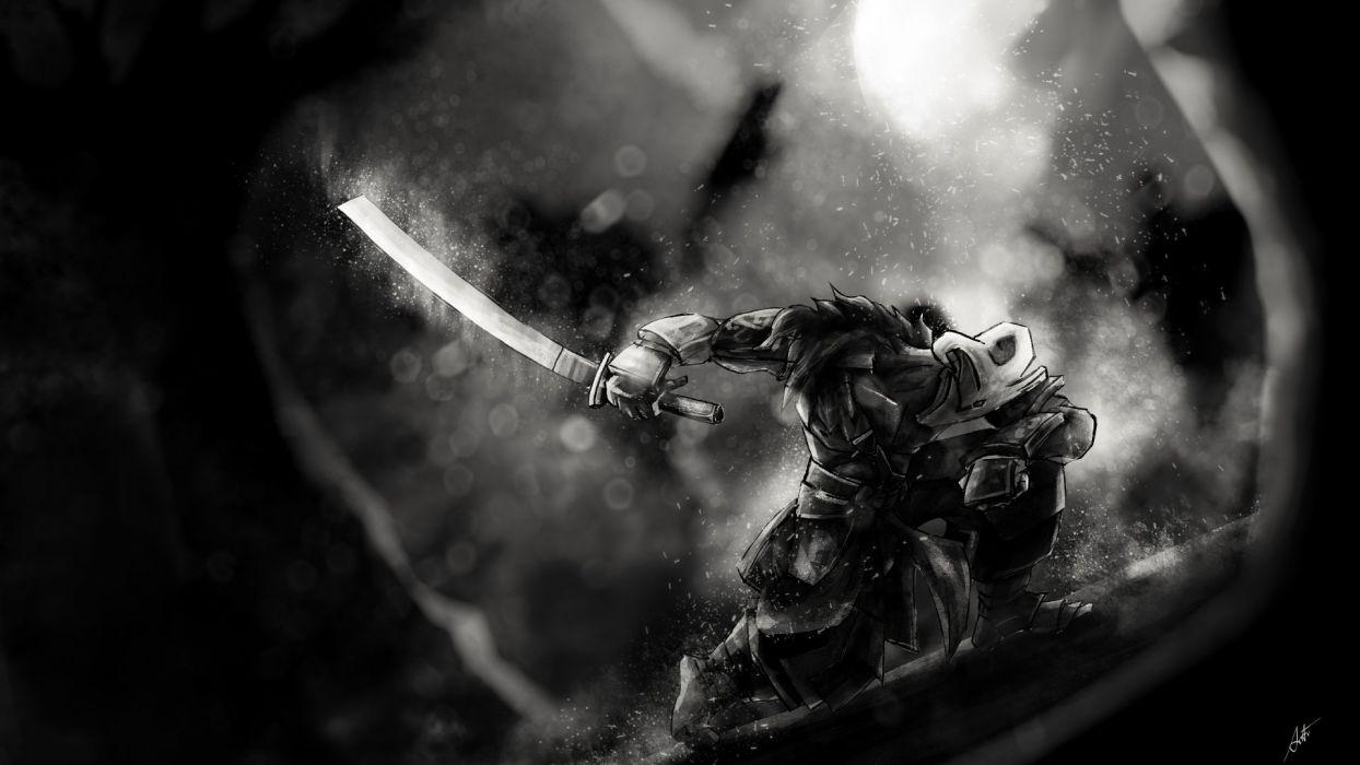 DOTA 2 Juggernaut Warrior Samurai Sabre Games Fantasy wallpaper