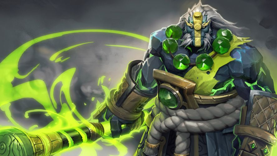 DOTA 2 Warrior Monster Earth Spirit Games Fantasy magic wizard sorcerer wallpaper