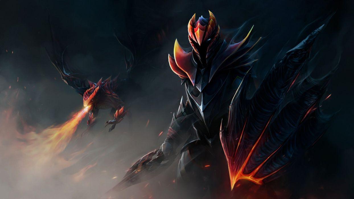 DOTA 2 Dragon Knight Dota Warrior Armor Shield Games Fantasy Wallpaper