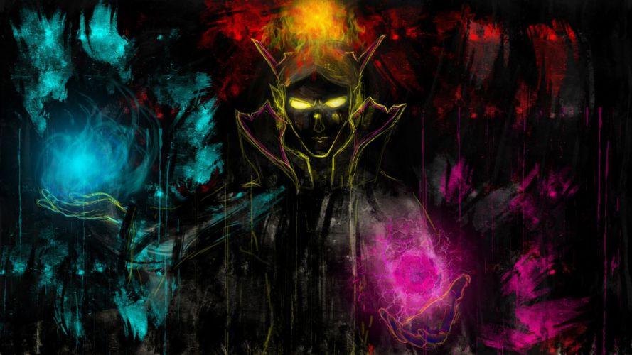 DOTA 2 Invoker Magic Games Fantasy wizard sorcerer wallpaper