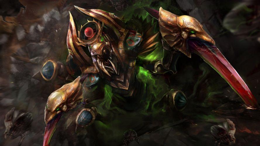 DOTA 2 Nyx Assassin Monster Games Fantasy warrior creatu7re assassins wallpaper