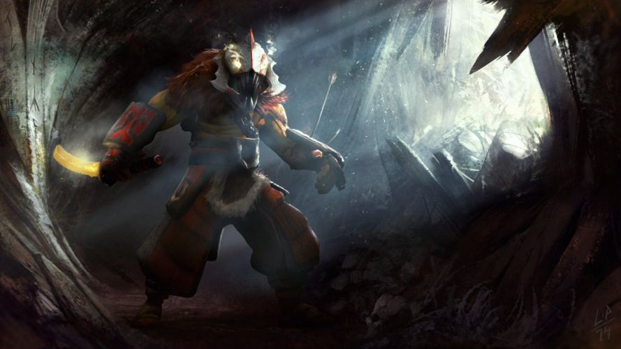 DOTA 2 Juggernaut Warrior Games Fantasy art artwork wallpaper
