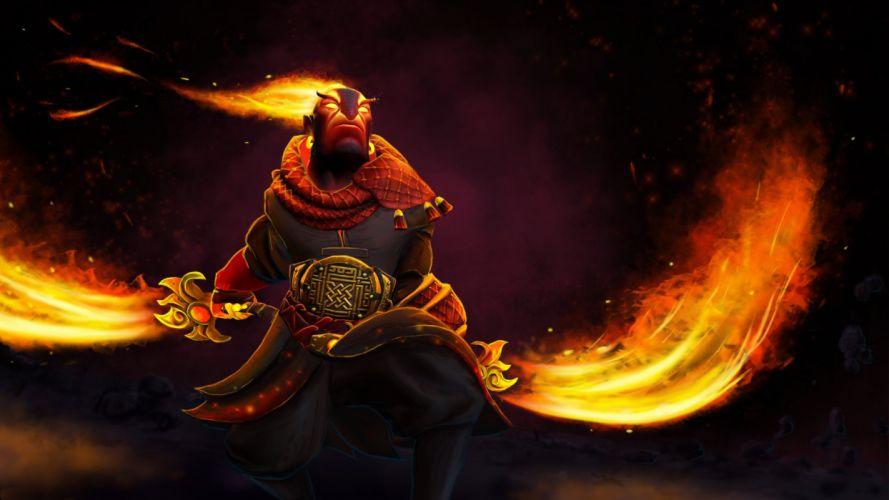 DOTA 2 Ember Spirit Warrior Games Fantasy art artwork fire wallpaper