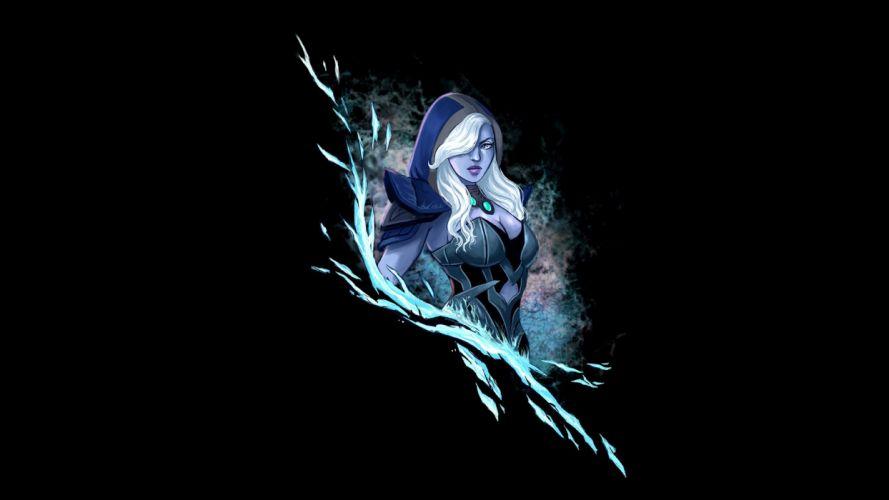 DOTA 2 Drow Ranger Warrior Archer Hood headgear Games Fantasy art artwork girl wallpaper
