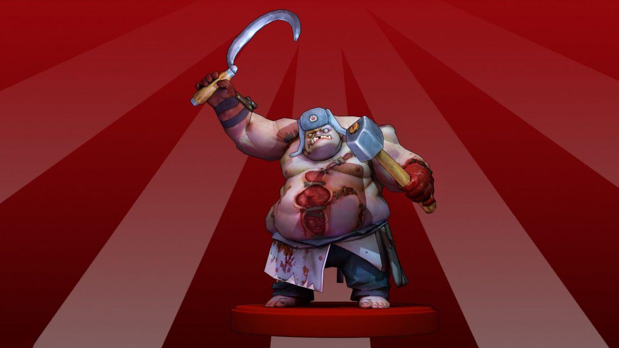 DOTA 2 Pudge Monster Hammer sickle Games Fantasy warrior wallpaper