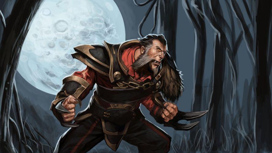 DOTA 2 Lycan Warrior Games Fantasy werewolf wolf wolves halloween dark wallpaper