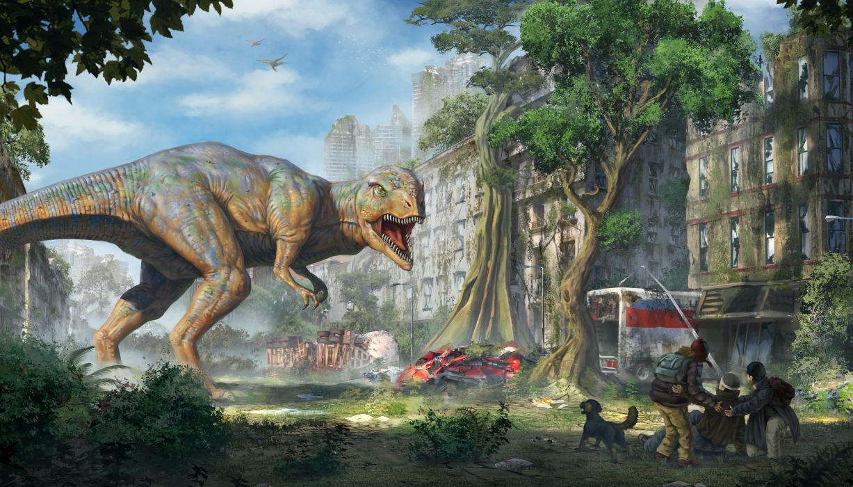 Dinosaur Apocalypse Fantasy Apocalyptic Monster Art