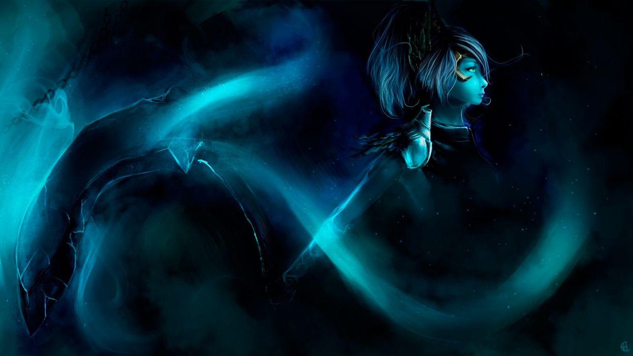 DOTA 2 Phantom assassin mortred Warrior Games Fantasy magic girl art artwork wallpaper