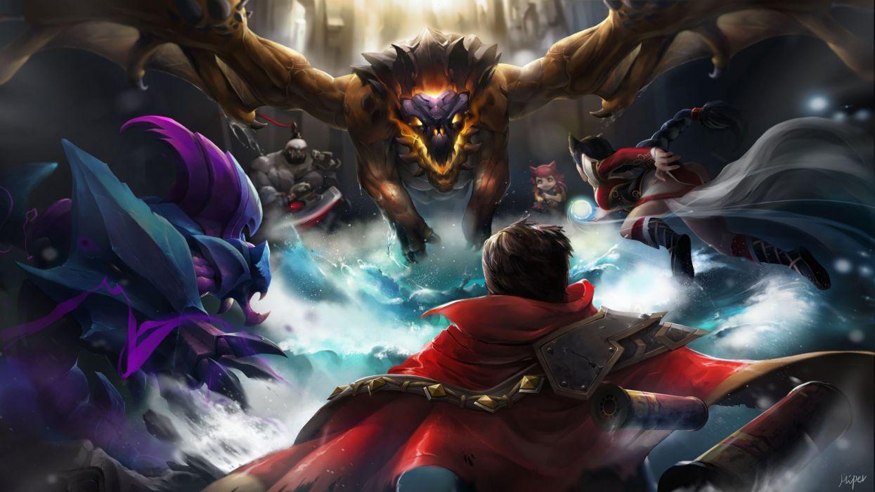 League Legends fantasy art artwork warrior wallpaper