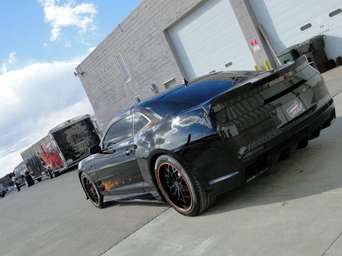 2011 Black Banshee chevy chevrolet camaro modified wallpaper